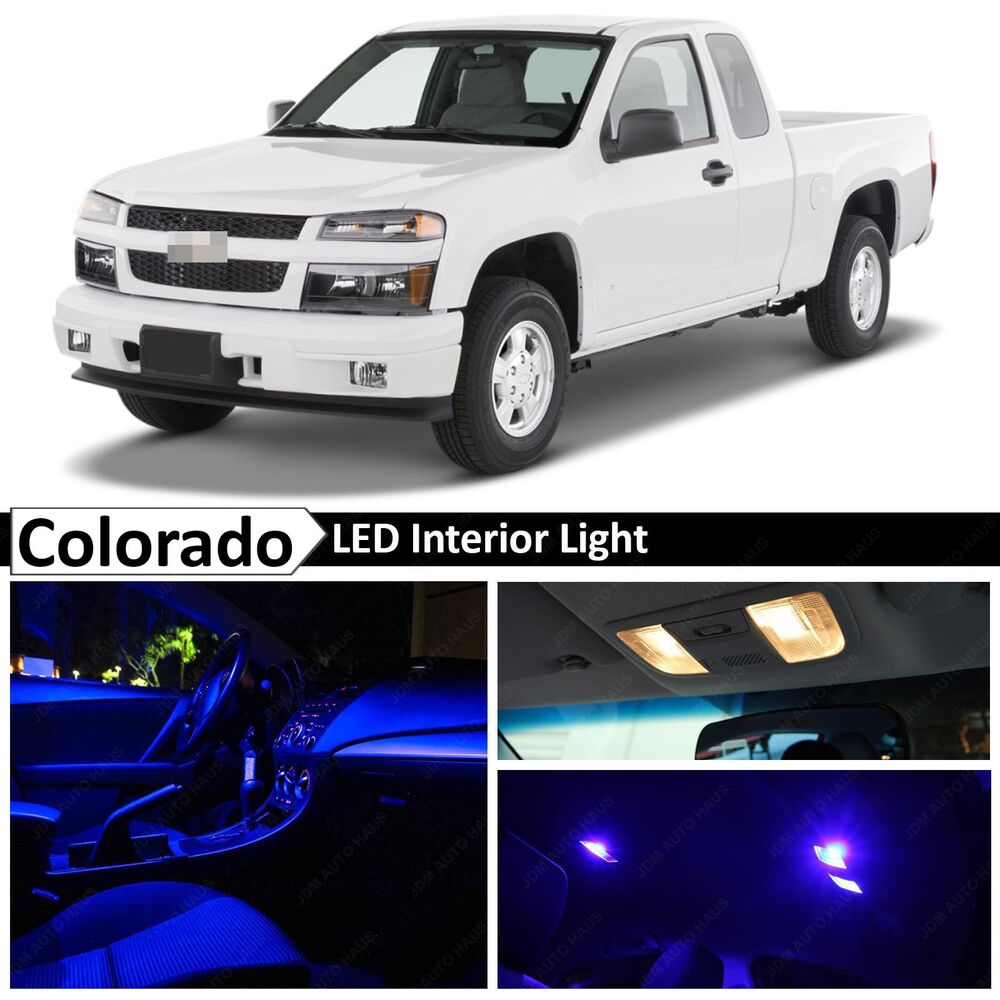 12x Blue Led Light Interior Package Kit For 2004 2012 Chevy Colorado Ebay
