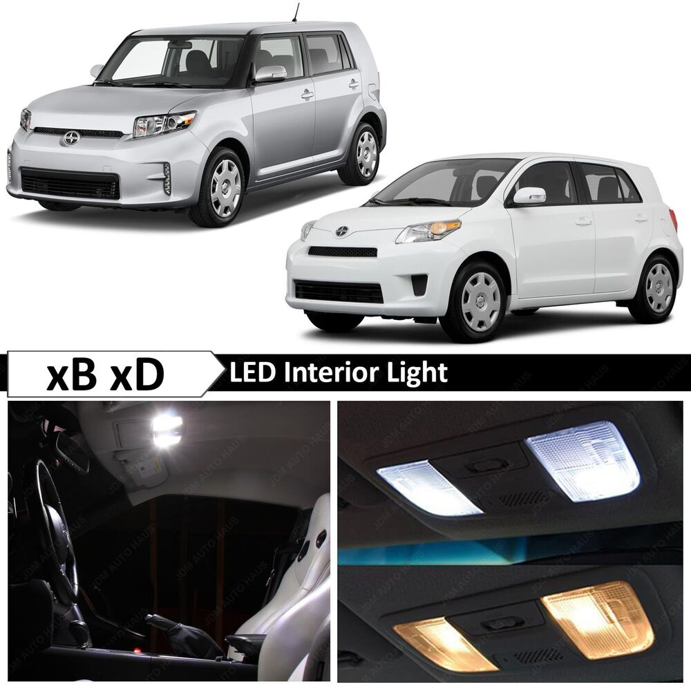 2011 Scion Xb Aftermarket Parts: 8x White LED Interior Lights Package Kit For 2008