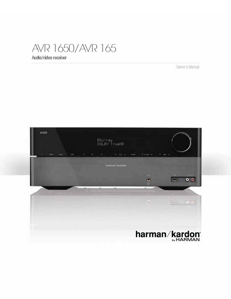 Harman kardon he 1000 manual