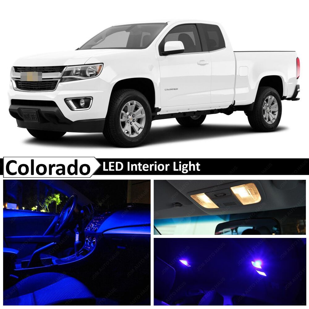 15x blue led light interior package kit for 2015 2017 chevy colorado ebay. Black Bedroom Furniture Sets. Home Design Ideas
