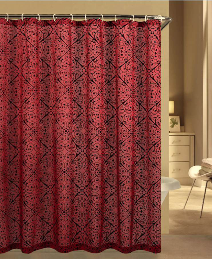 S.L Home Fashion Shower Curtains With Hooks And Liner In