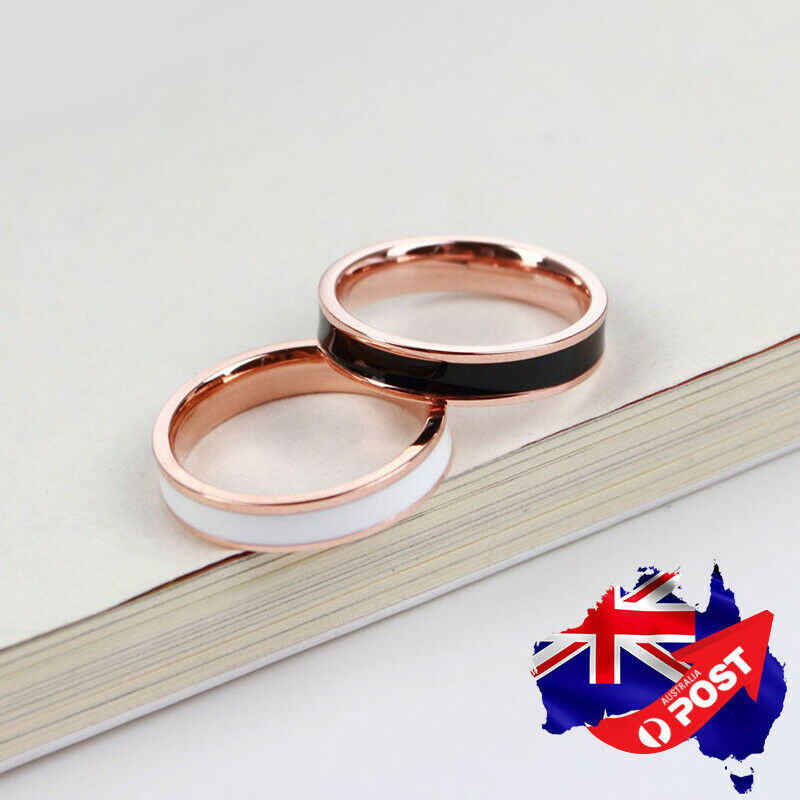 18K Rose GOLD Filled Womens Fashion Wedding Engagement Band Ring Jewelry Gift