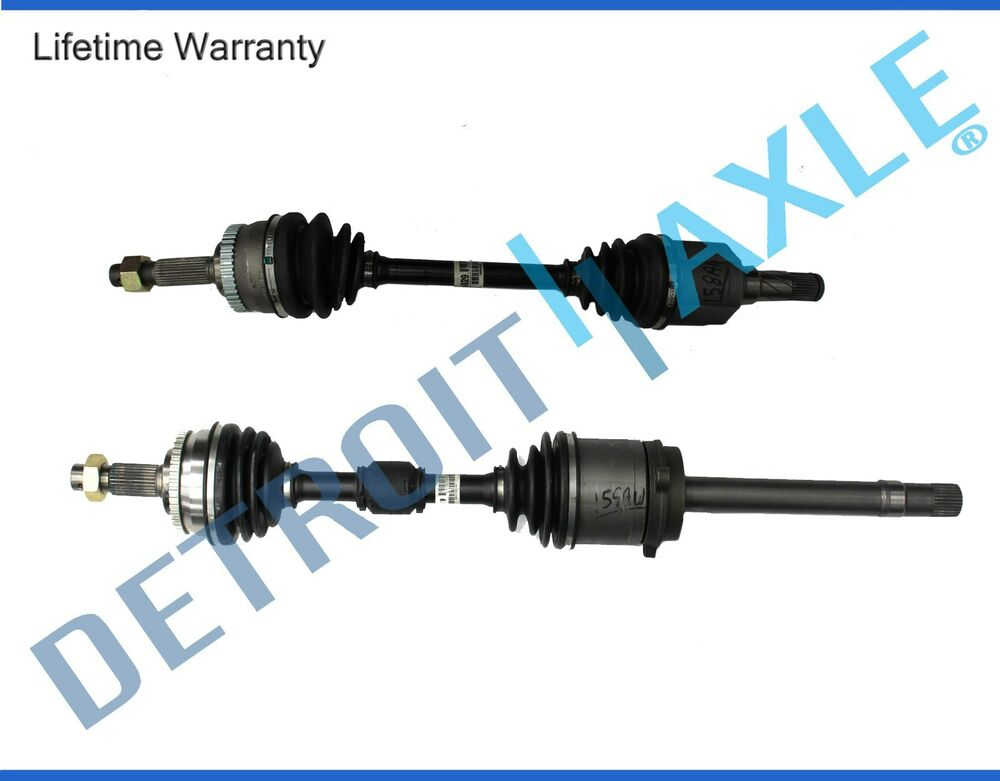 both 2 front cv axle joint drive shaft for 1998 2001 altima abs auto trans ebay. Black Bedroom Furniture Sets. Home Design Ideas