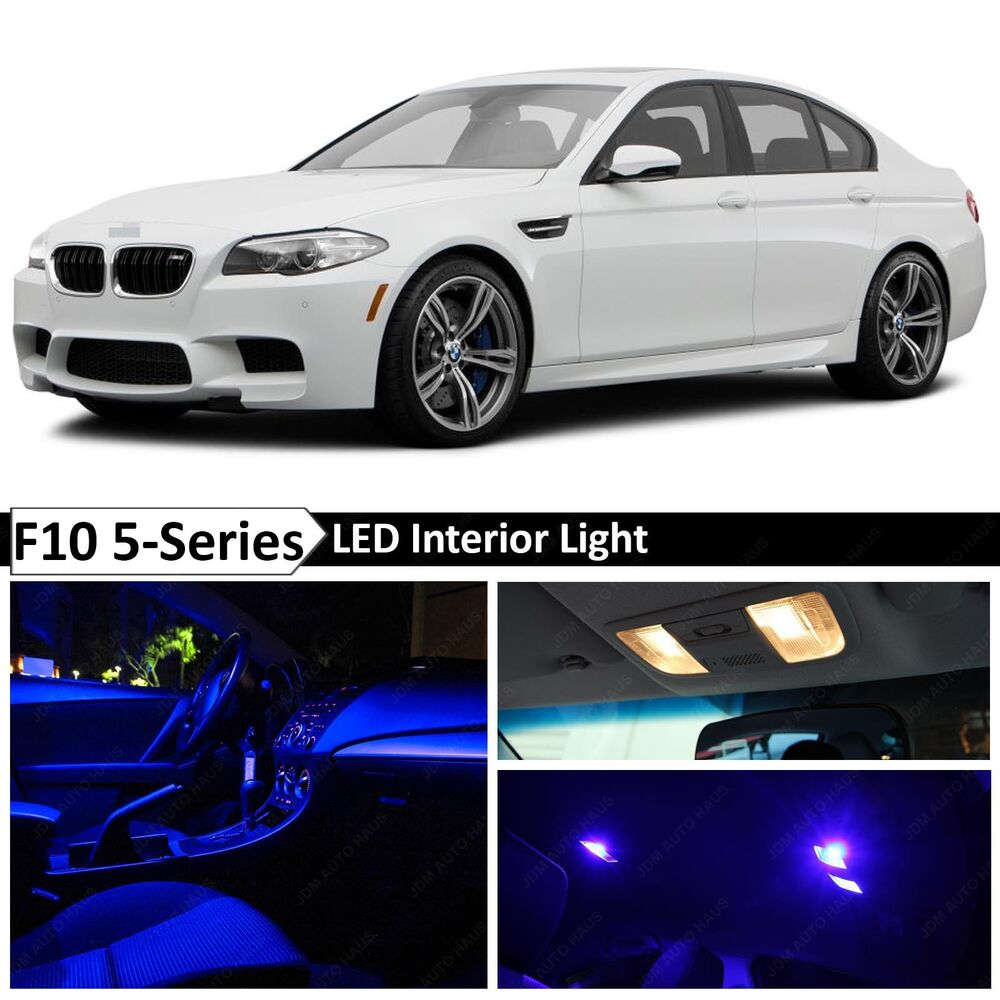 Blue Interior LED Light Package For 2011-2015 BMW 5 Series