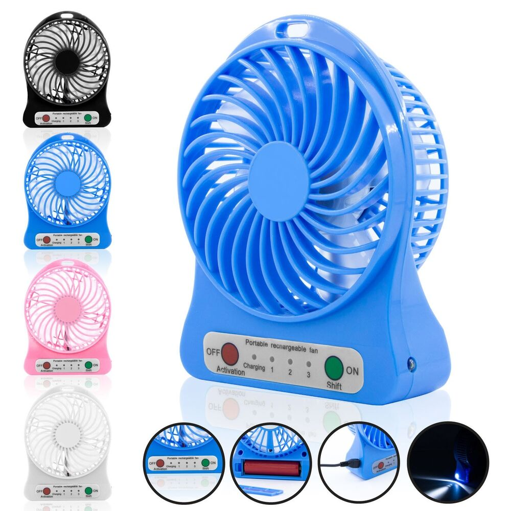 Portable Mini Fan : Portable rechargeable led fan air cooler mini operated