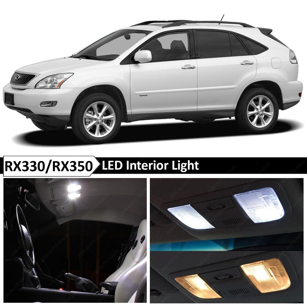 20x white interior led light package kit 2004 2009 lexus rx330 rx350 tool ebay. Black Bedroom Furniture Sets. Home Design Ideas