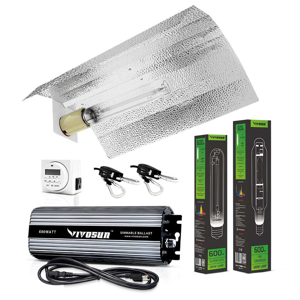 Vivosun 400w 600w 1000w Watt Grow Light Kit Hps Mh Wing