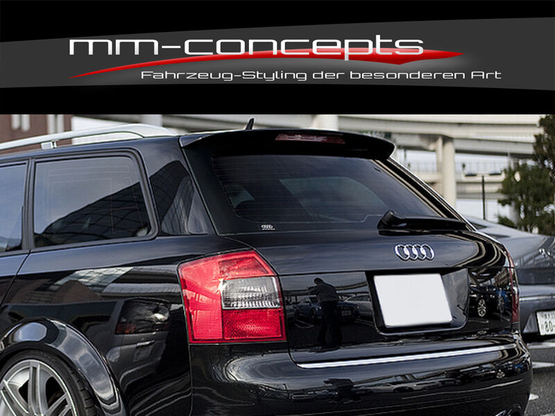 audi a4 s4 rs4 avant kombi dachspoiler typ 8e b6 dach spoiler heck ebay. Black Bedroom Furniture Sets. Home Design Ideas