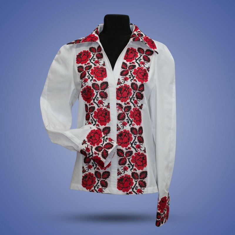 Ukrainian embroidered traditional shirt for ladies blouse