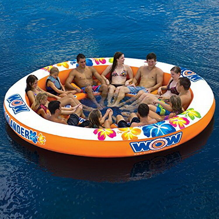 Party Island Beach: Large Giant Inflatable Boat Water Float Island Lounge 12