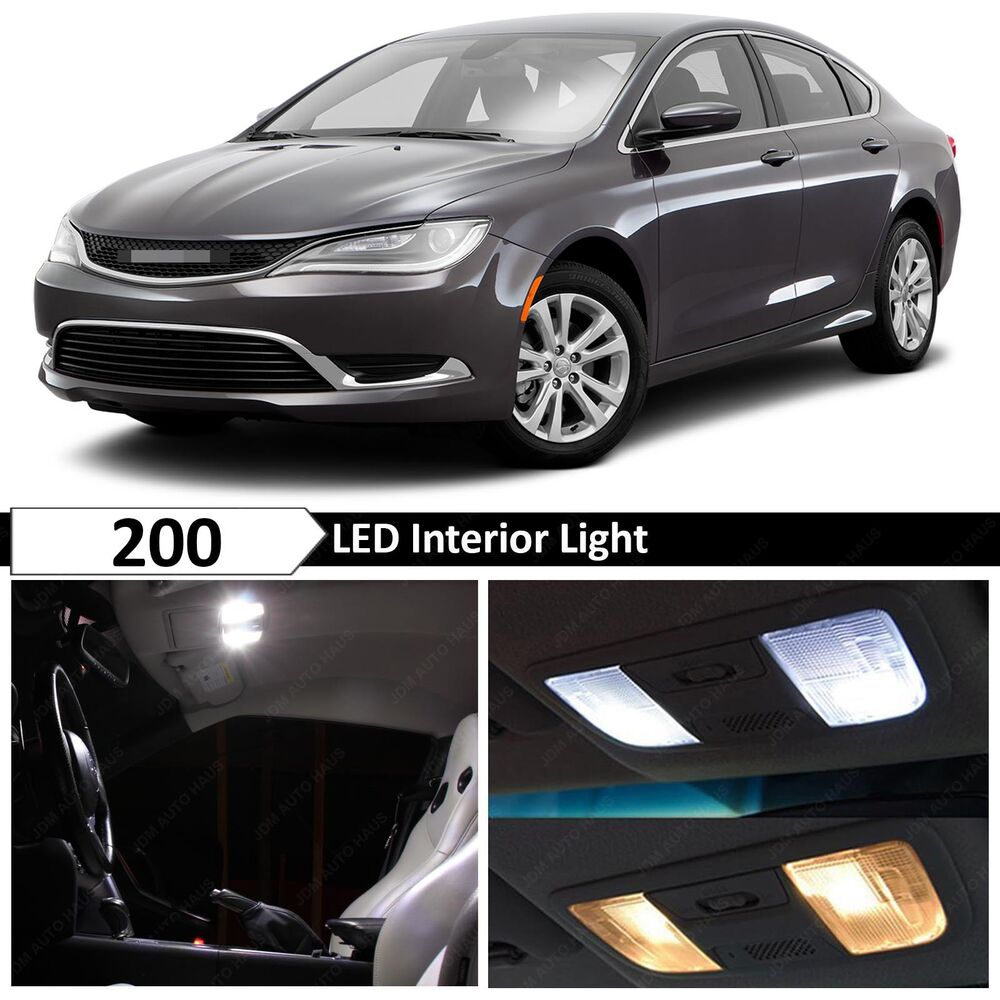 11x white interior led lights package kit for 2015 2016 chrysler 200 tool ebay 2015 nissan altima interior lights