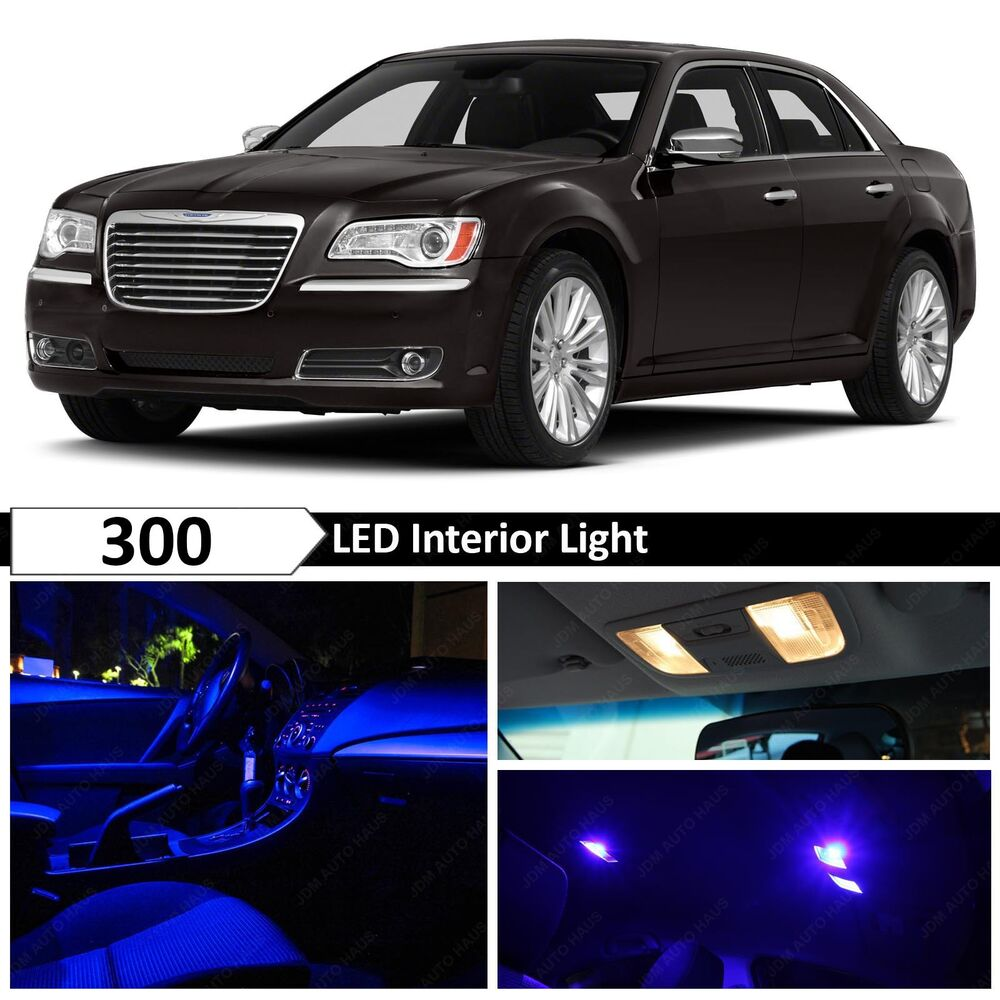 15x blue interior led lights interior package kit for 2011 2014 chrysler 300 ebay. Black Bedroom Furniture Sets. Home Design Ideas