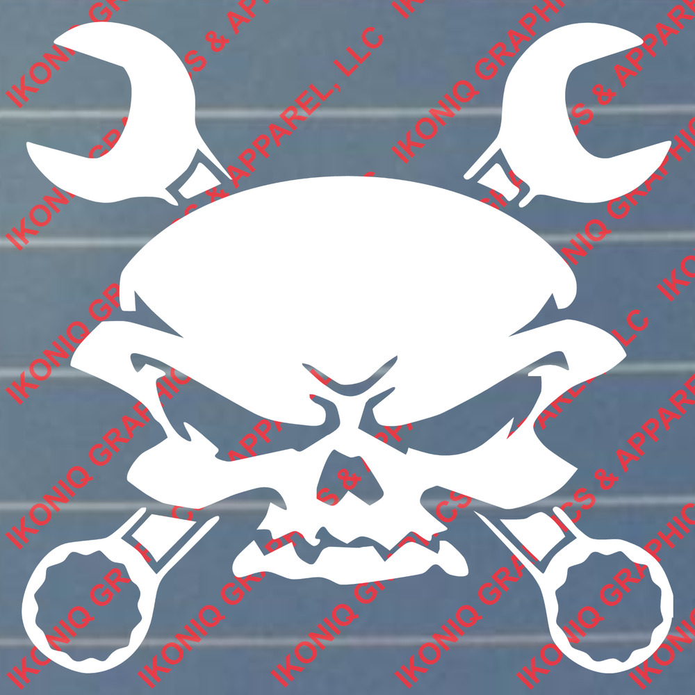 Skull N Wrenches Decal Sticker Chevy Ford Dodge Ebay