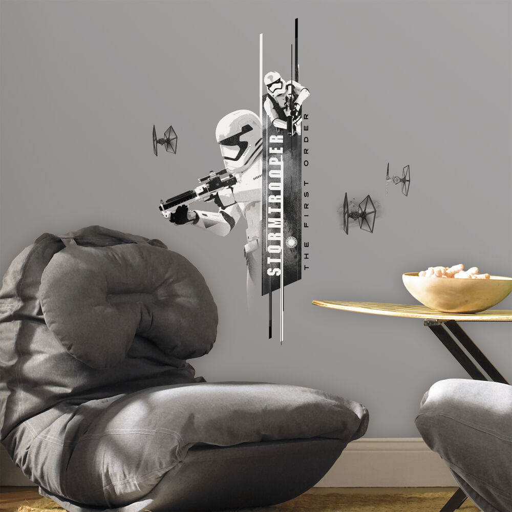 new 30 stormtrooper wall decals star wars the force awakens stickers room decor ebay. Black Bedroom Furniture Sets. Home Design Ideas