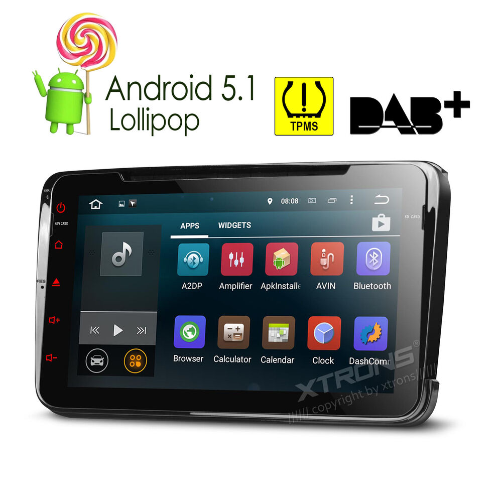 xtrons android 5 1 car dvd player stereo radio gps vw t5. Black Bedroom Furniture Sets. Home Design Ideas