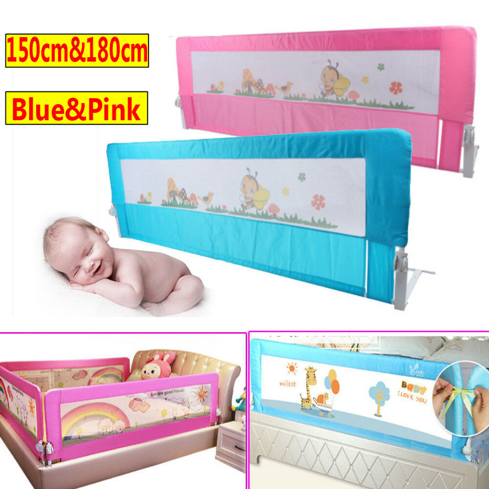 150 180cm Child Toddler Kid Safety Guard Bed Rail Protection Folding Bedrail UK