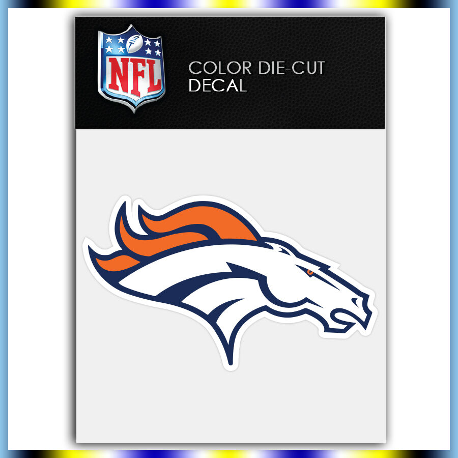 Denver broncos logo nfl die cut vinyl sticker car bumper for Vinyl windows denver
