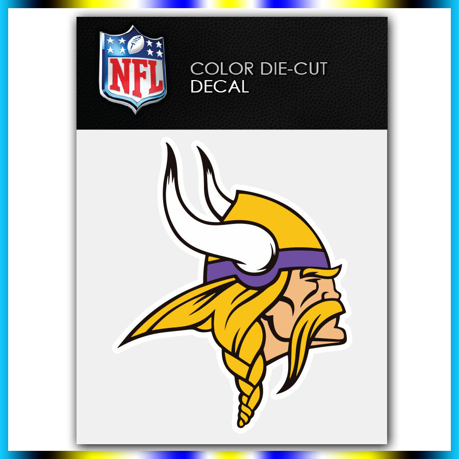 Minnesota Vikings New Nfl Die Cut Vinyl Sticker Car Bumper
