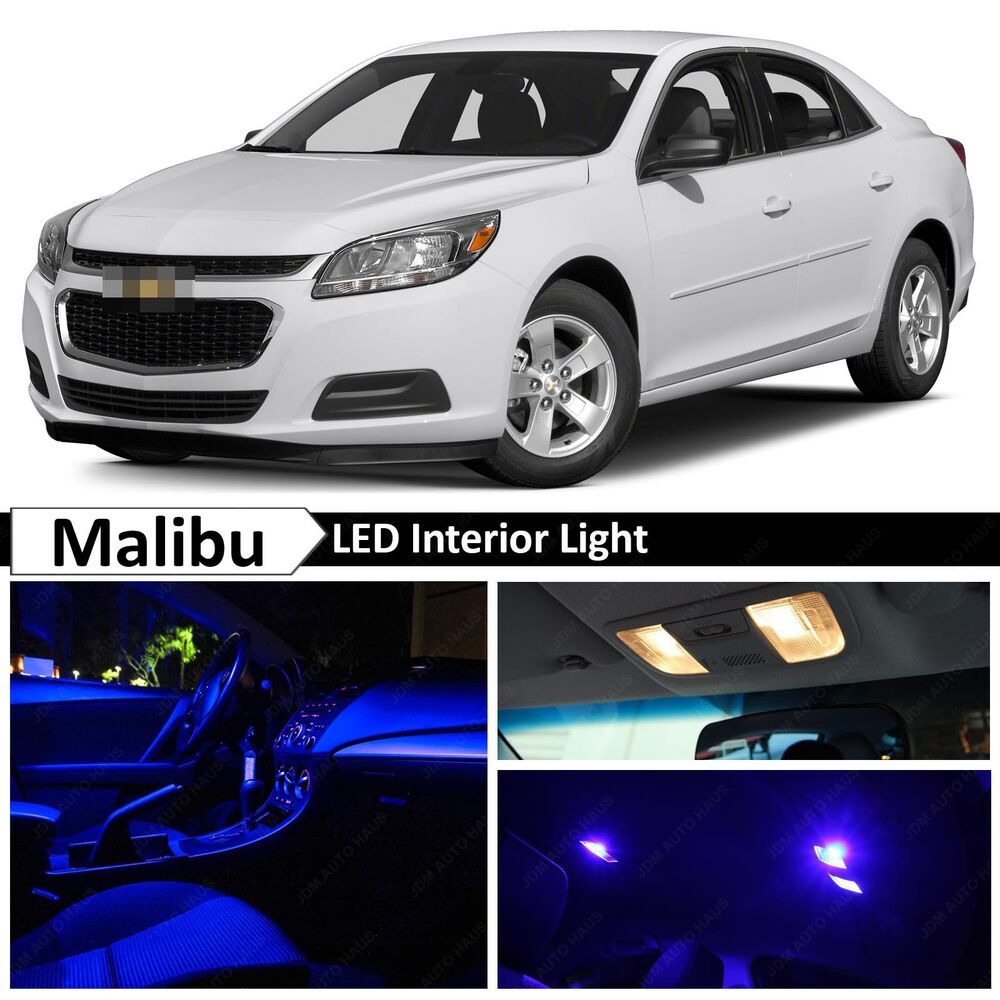 Malibu Lighting Parts >> Blue Interior LED Lights Package Kit for 2013-2015 Chevy Malibu | eBay