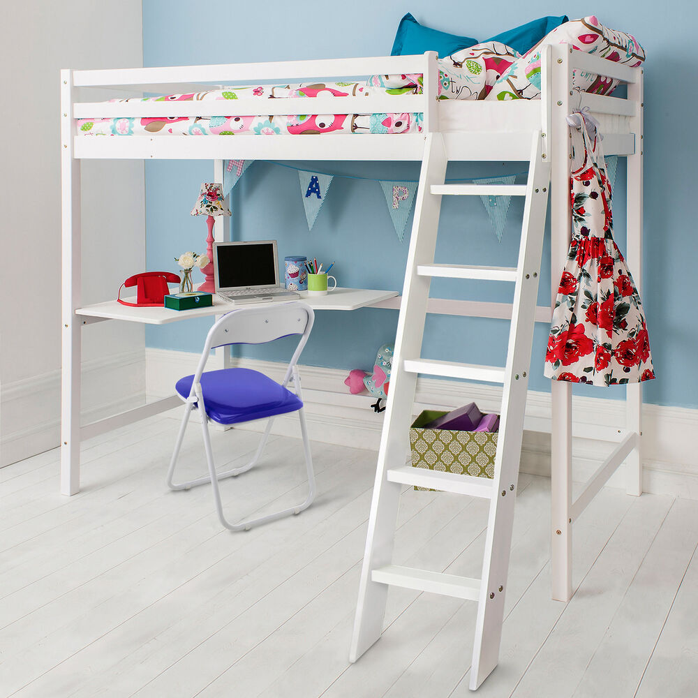 High Sleeper Cabin Bed with Desk Kids Bed - Thomas in ...