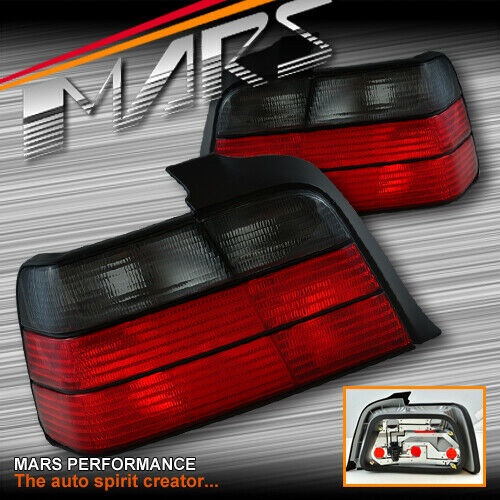 Smoked Red M3 Tail Lights For BMW E36 4D Sedan 91-97 318i