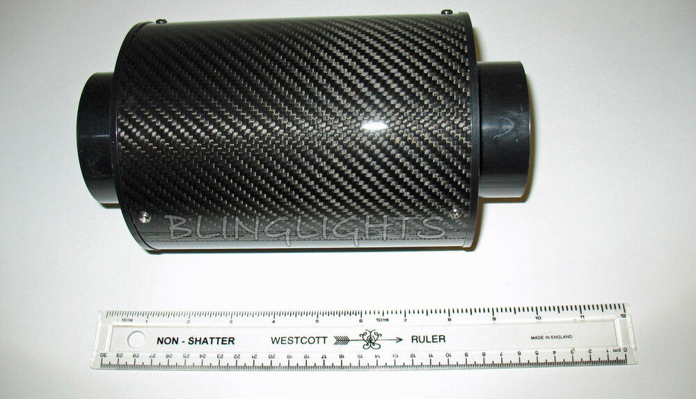 universal cold air intake carbon fiber heat shield with