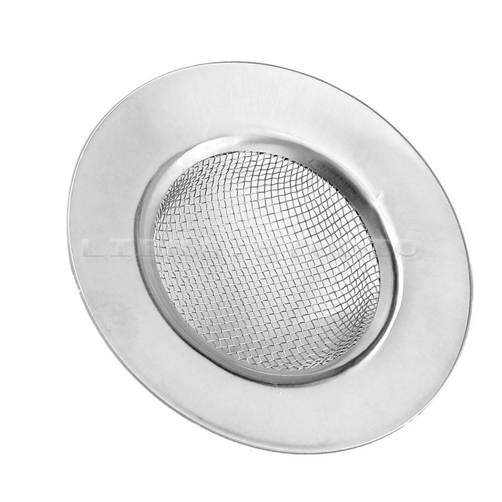 Silver Stainless Steel Bathroom Kitchen Mesh Sink Drain