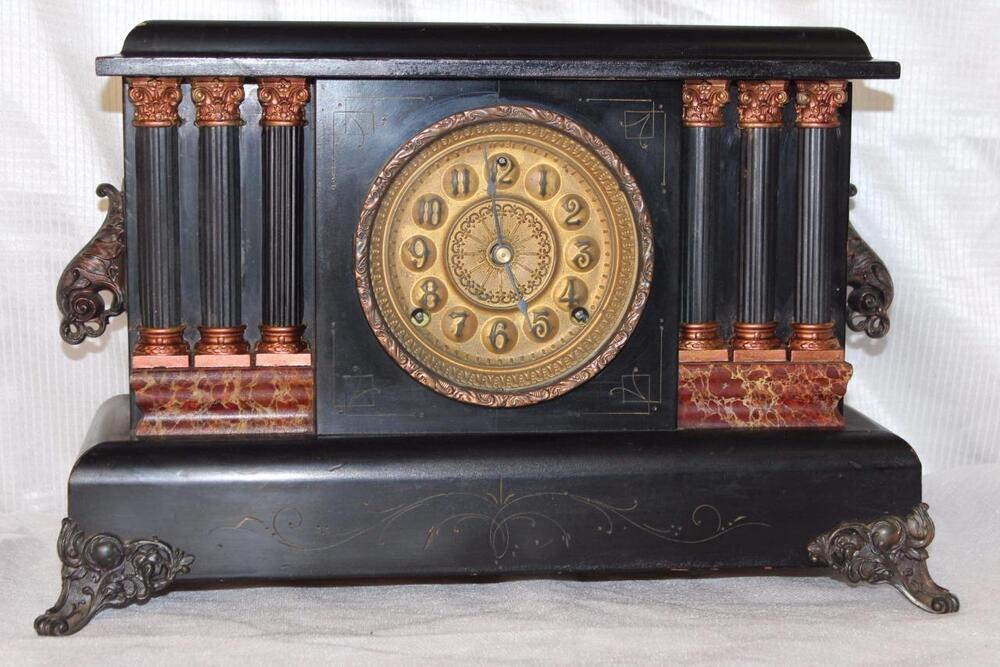 Antique Sessions 8 Day Mantle Clock In Good Running Order : eBay