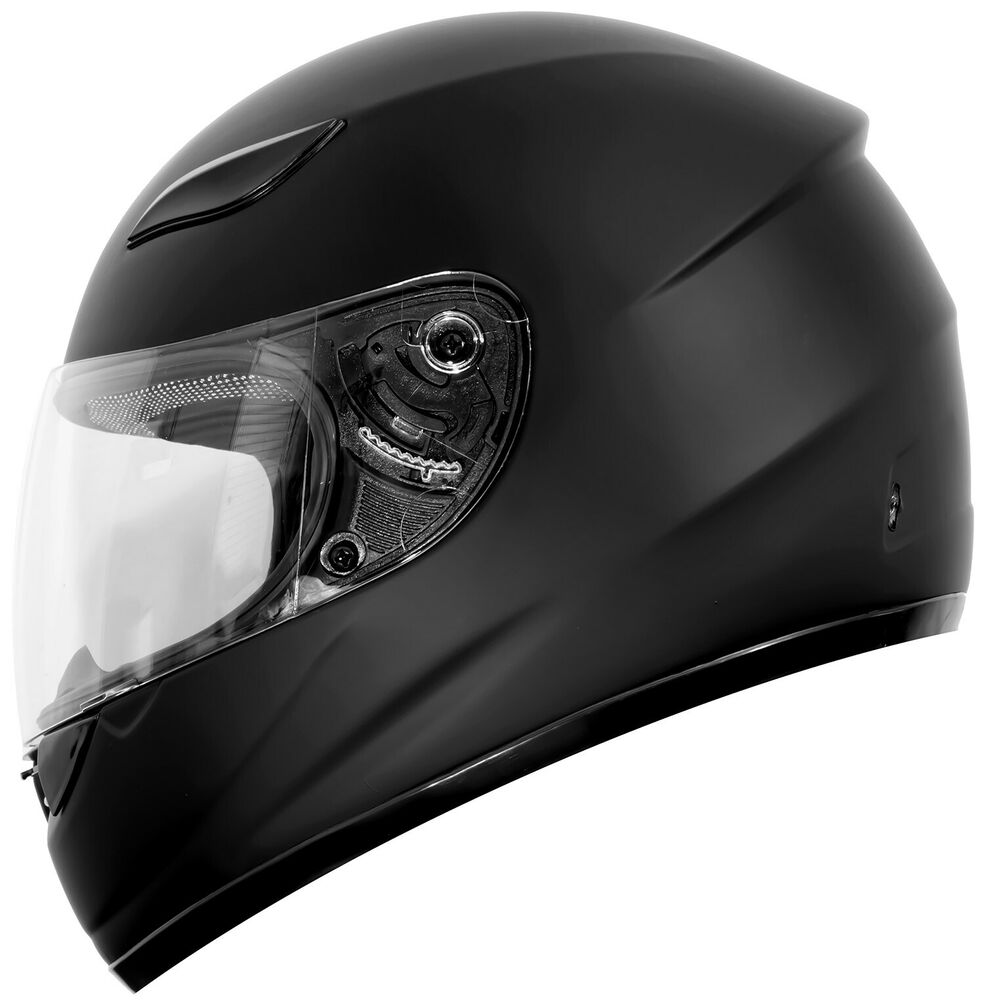 New Dot Motorcycle Helmet Matte Gloss Black Duke Dk 110