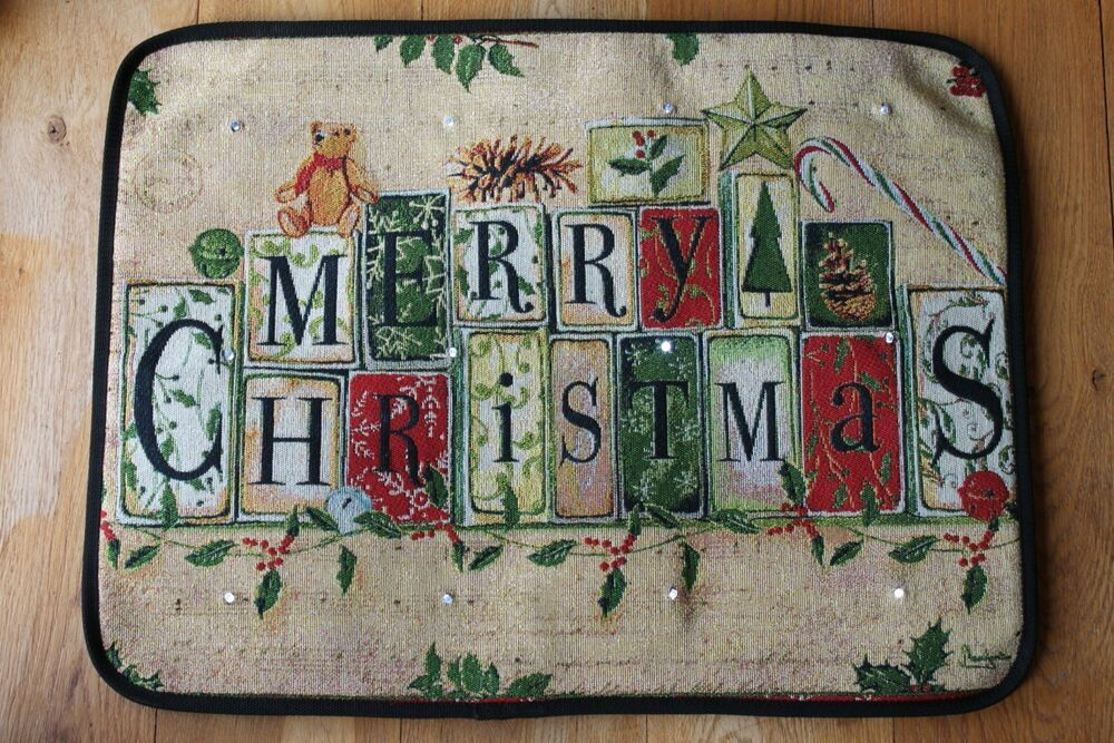 Musical Christmas Door Mat With Led Lights Rw8003 On
