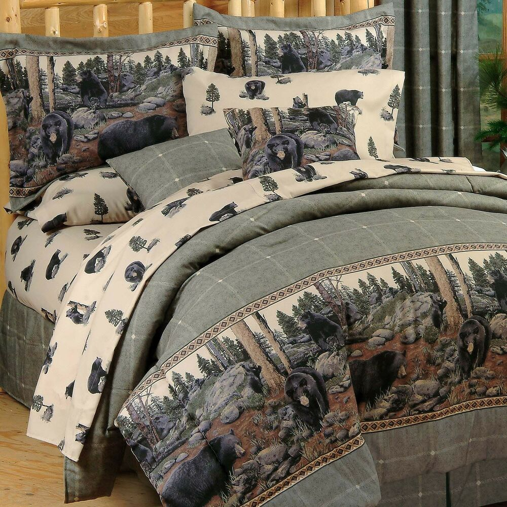 The Bears Cabin Bedding Comforter Set 4 Sizes Wildlife