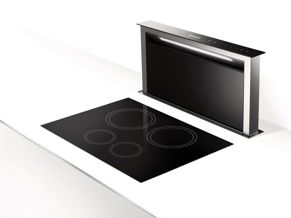faber fabula downdraft stainless steel black 900mm cooker hood ebay. Black Bedroom Furniture Sets. Home Design Ideas