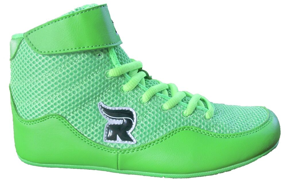 Rasslin' Youth Kids Boys/Girls MMA Wrestling Shoes (Neon ...
