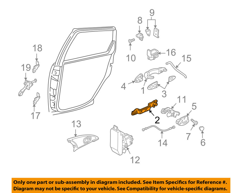 Ford Oem 02-03 Focus Lock