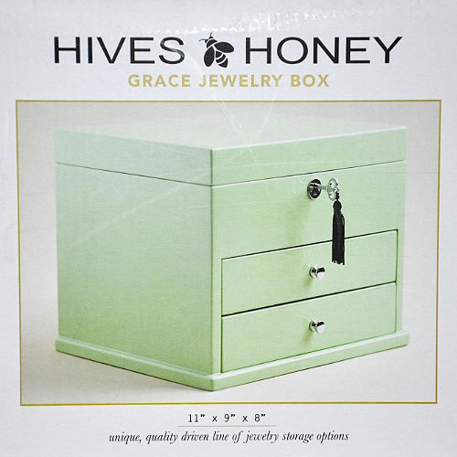 hives and honey green jewelry box brand new factory