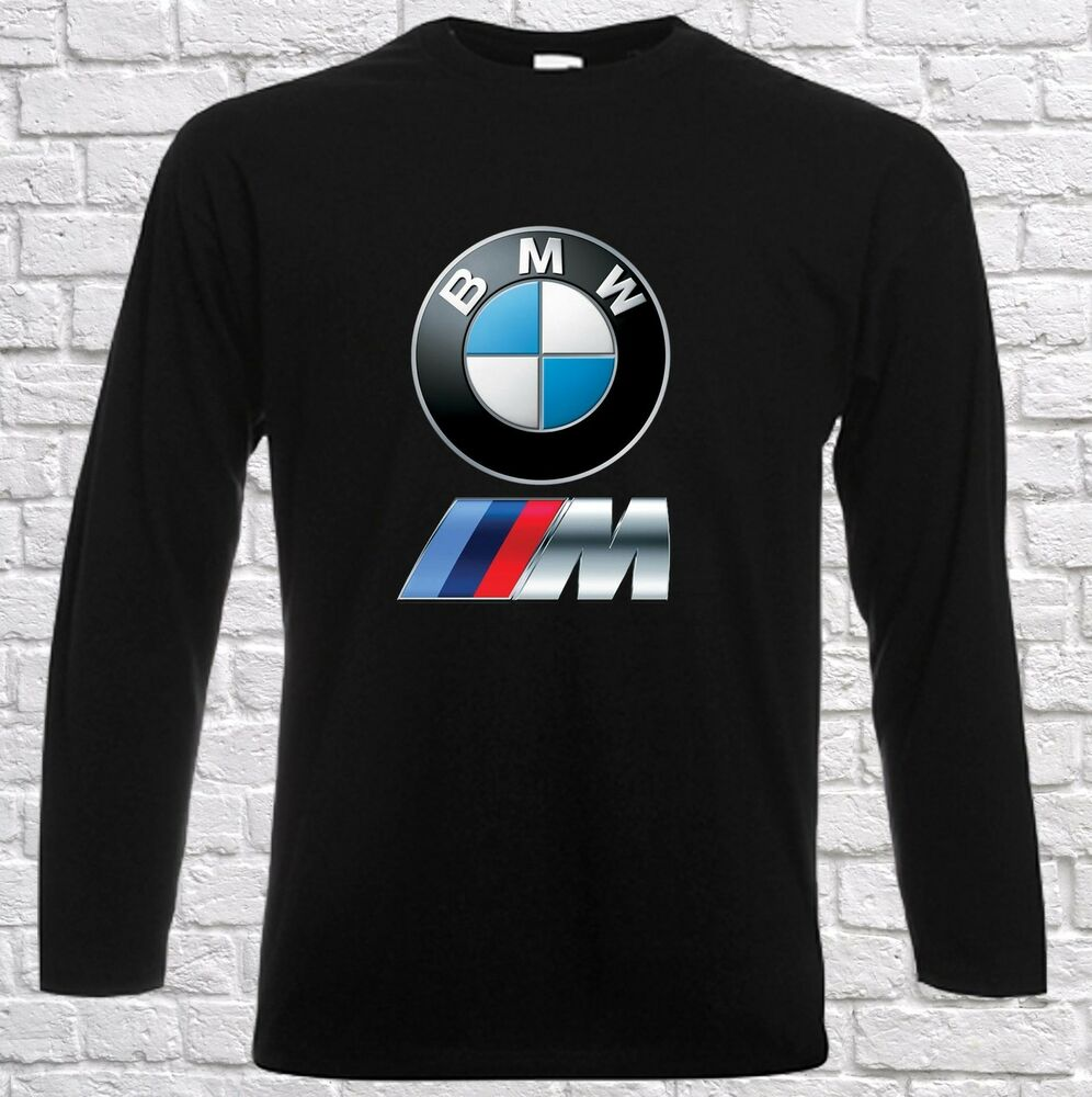 Herren Men T Shirt Bmw Power Logo Tee White Black Longsleeve Langarm Ebay