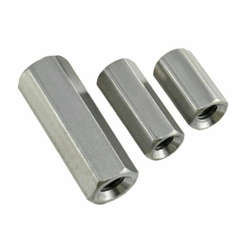 Threaded Bar Couplers : M hex rod coupling nuts threaded