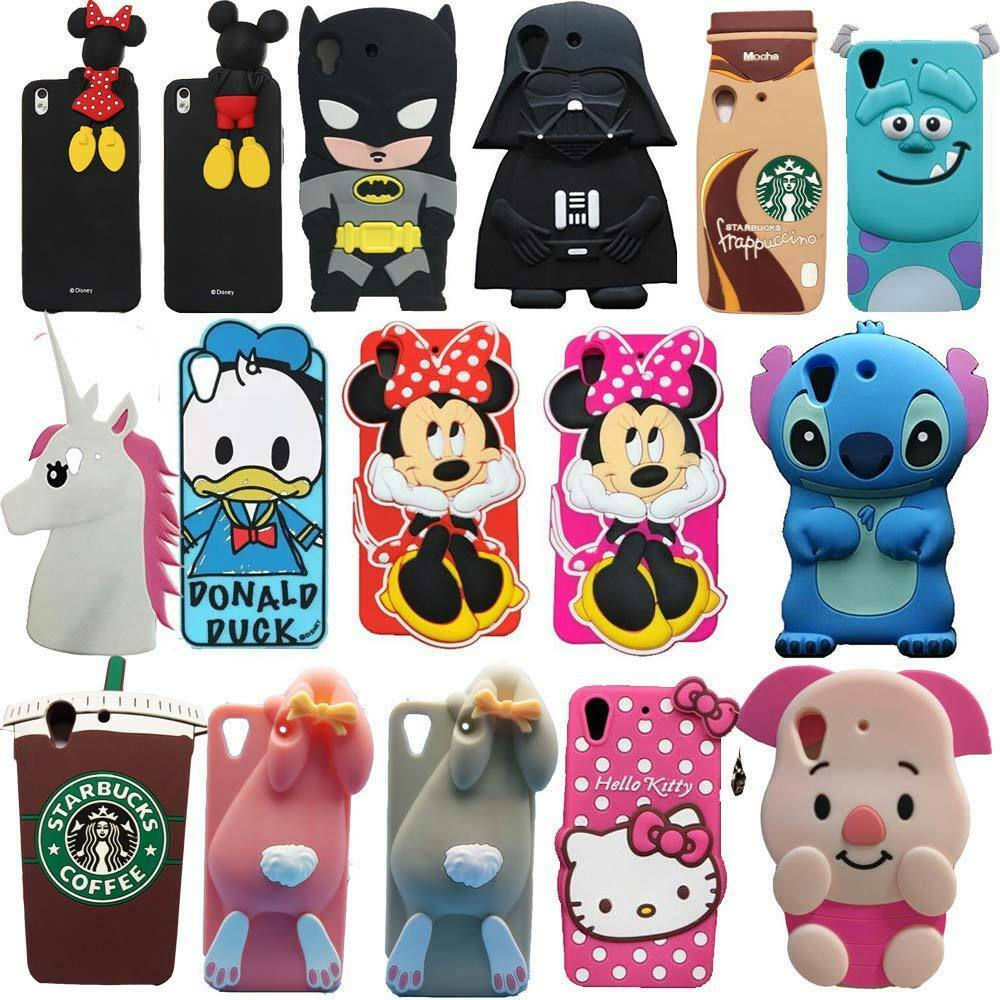 3d cute cartoon soft silicone back rubber cover case for for 3d decoration for phone cases