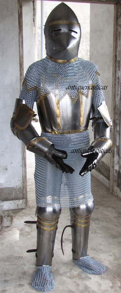FIT FOR 6' TALL PERSON CHAIN MAIL MEDIEVAL ARMOR SUIT