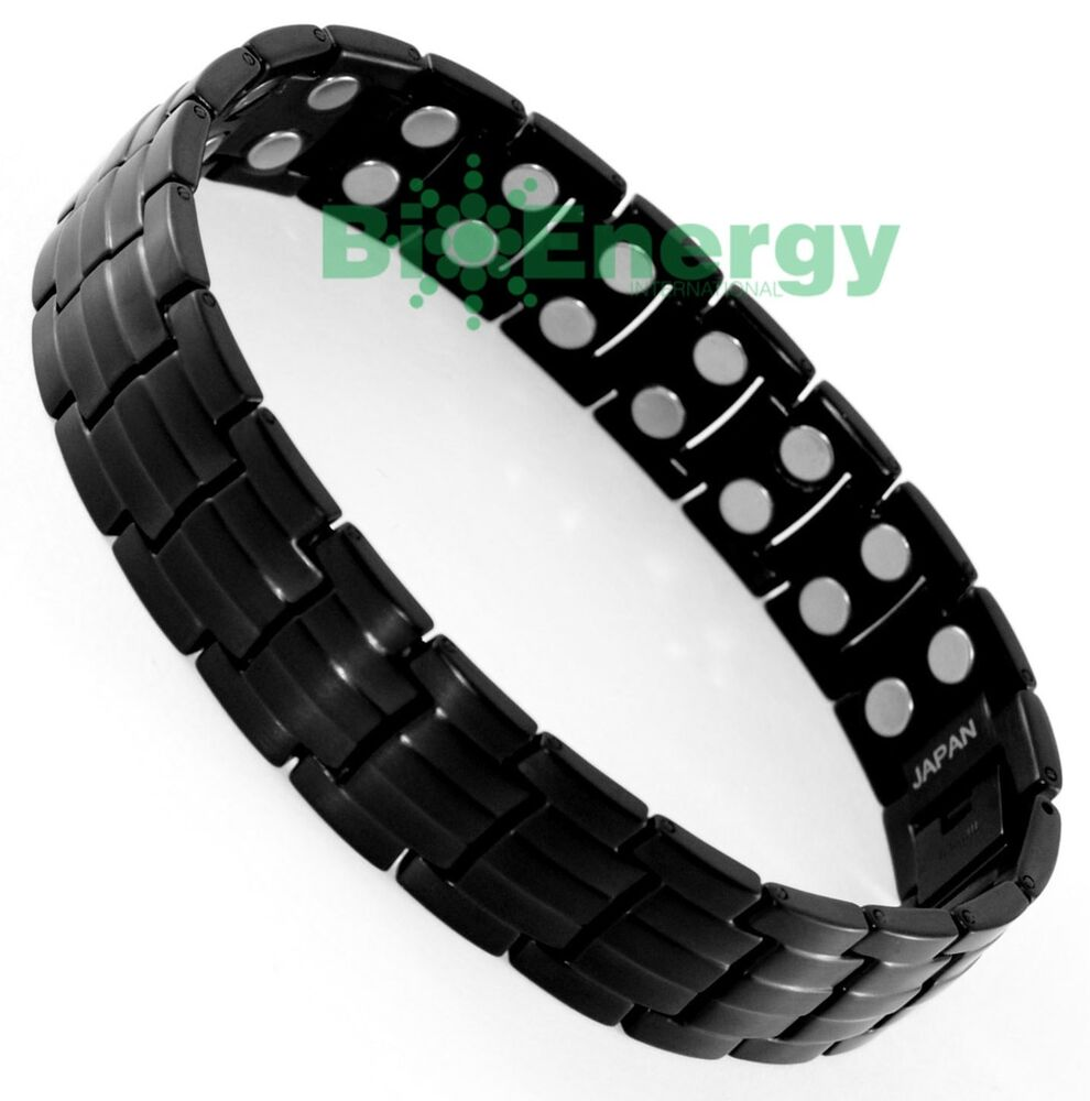 power bracelet magnet magnetic titanium steel energy power bracelet 2490