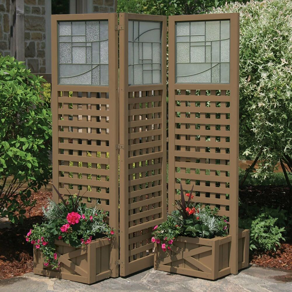privacy screen with planters garden outdoor greenhouse