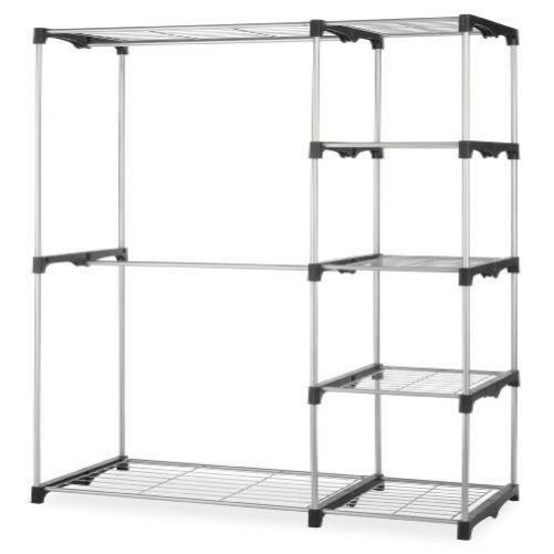 whitmor double closet rod clothes garment organizer order. Black Bedroom Furniture Sets. Home Design Ideas