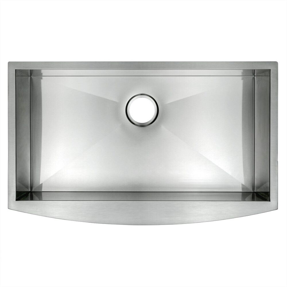 single stainless steel kitchen sink 33 quot undermount apron single bowl 16 stainless steel 7965