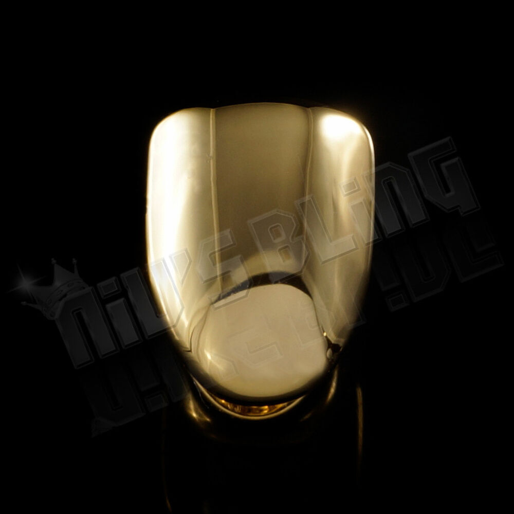 14k Gold Plated Single Tooth Bottom Grill Cap Canine Teeth
