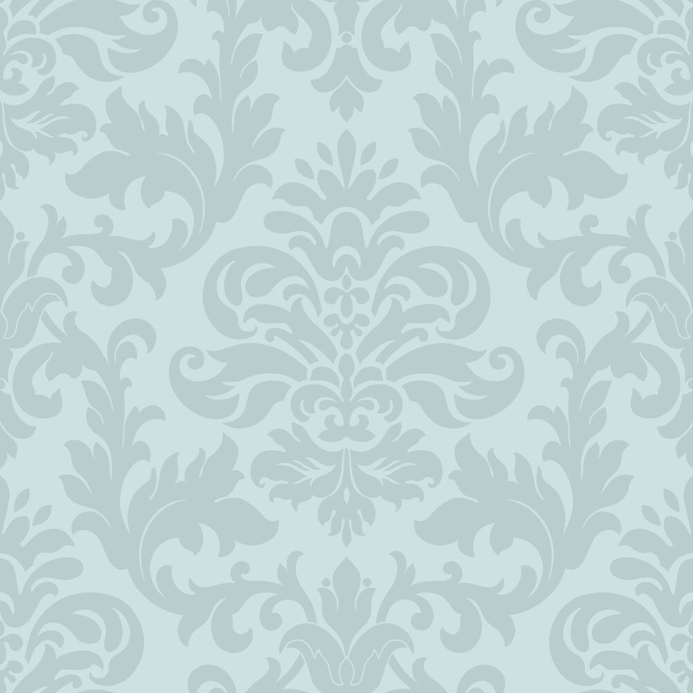 DUCK EGG BLUE TEAL DAMASK PATTERN DESIGNER FEATURE ...