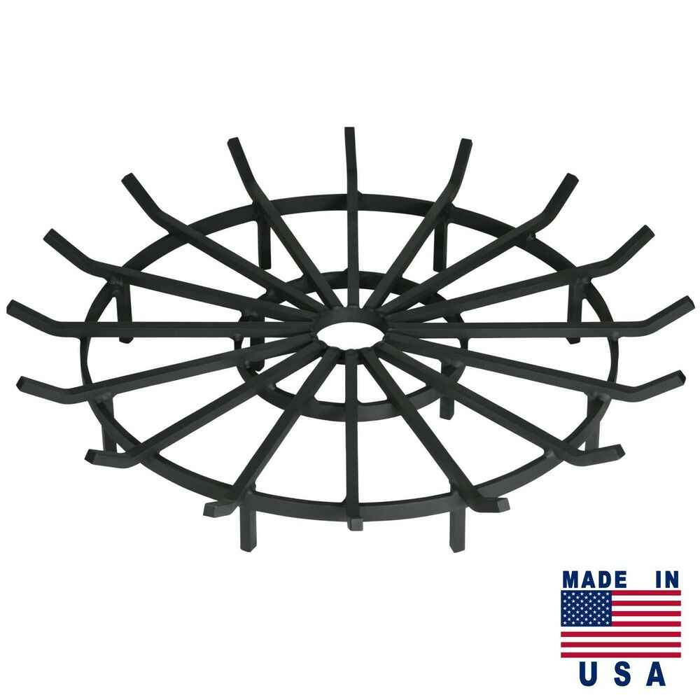 fire pit grate heavy duty wagon wheel firewood grate for pit made 29233