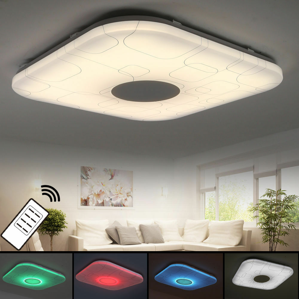 led deckenlampe 12w 15w 24w 48w rgb voll dimmbar mit fernbedienung lampen dx809 ebay. Black Bedroom Furniture Sets. Home Design Ideas