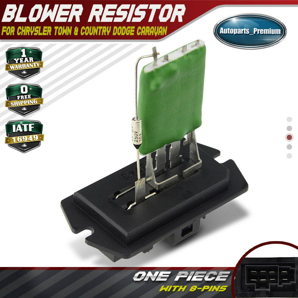 Hvac heater blower motor fan resistor for chrysler town for Chrysler pacifica blower motor resistor