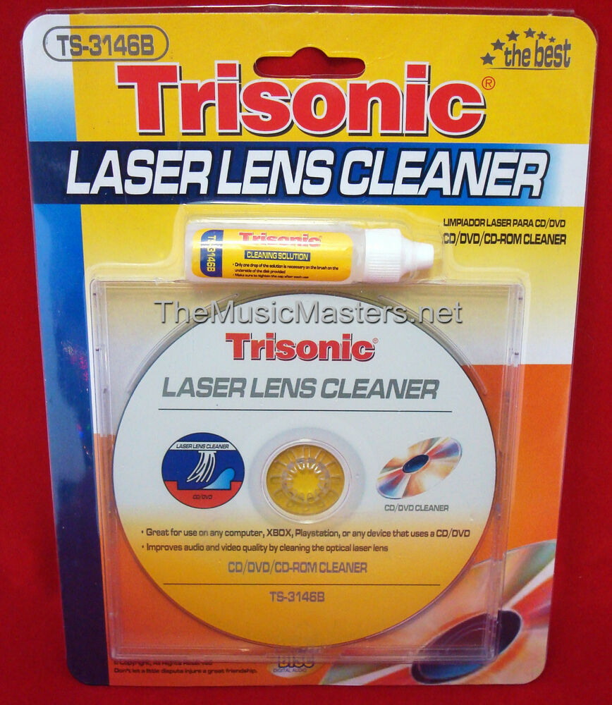 CD DVD Blu-Ray Player LASER LENS CLEANER Cleaning Disc W