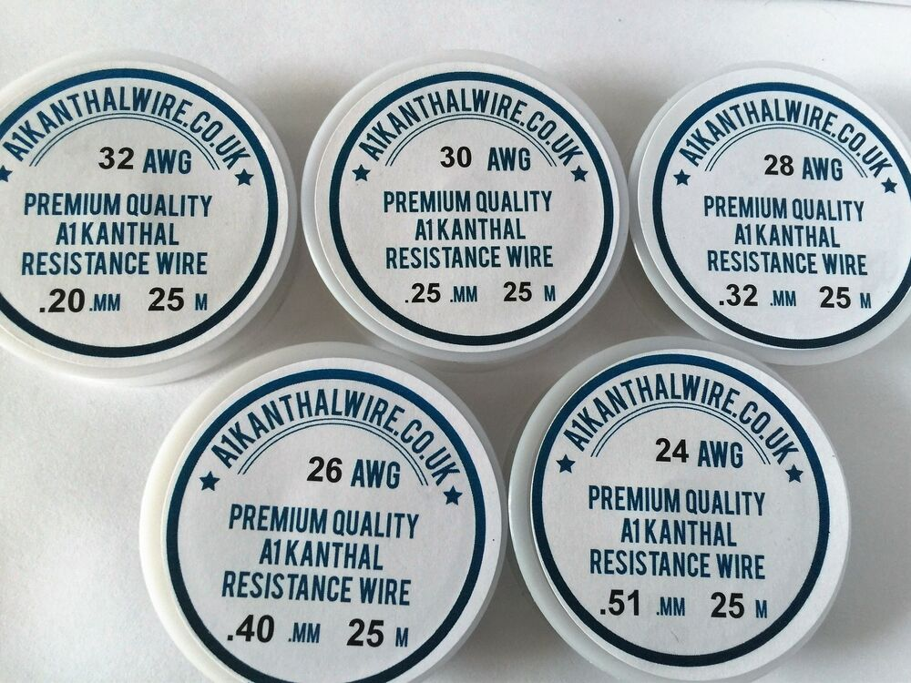 A1 Kanthal Resistance Wire Big 5 25m of each Gauge 24,26,28,30,32 ...